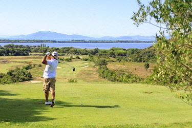 ITA12303AW Italy. Tuscany. Grosseto district. Maremma. Monte Argentario. Argentario Golf Club.