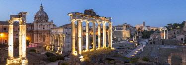 ITA12485AW Italy, Latium, Lazio. Rome, Roma. The Roman Forum.