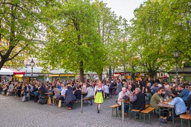 DE07255 Viktualienmarkt, Munich, Bavaria, Germany