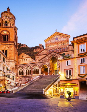 ITA12329 Amalfi. Amalfi Coast. Campania. Southern Italy. The Amalfi Cathedral.