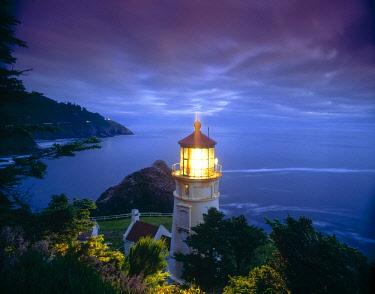US38SWR0029 Heceta Head Lighthouse, Oregon Coast, Oregon, USA