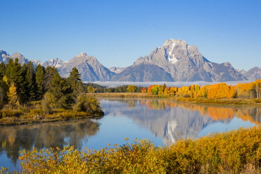 US51RDY0062 Oxbow Bend in fall, Grand Teton National Park, Wyoming