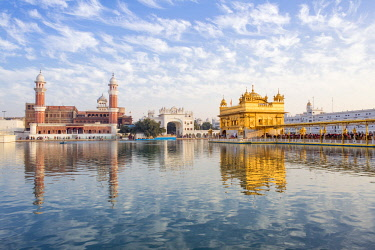 India, Punjab, Amritsar, - Golden Temple, The Harmandir Sahib, Amrit Sagar - lake of Nectar