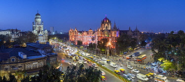 IN07149 India, Mumbai, Maharashtra, Chhatrapati Shivaji Maharaj Terminus railway station (CSMT), (formerly Victoria Terminus), UNESCO World Heritage Site