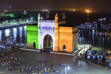 IN07152 India, Mumbai, Maharashtra, The Gateway of India, monument commemorating the landing of King George V and Queen Mary in 1911