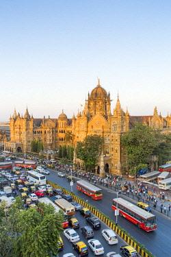 IN07154 India, Mumbai, Maharashtra, Chhatrapati Shivaji Maharaj Terminus railway station (CSMT), (formerly Victoria Terminus), UNESCO World Heritage Site
