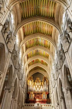 SPA7668AW Interior of the Almudena Cathedral (Catedral de la Almudena), Madrid. Spain