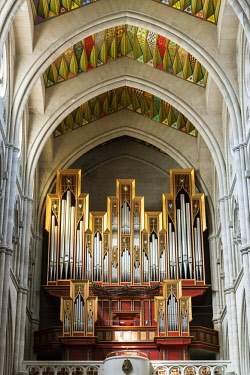 SPA7709AW The pipe organ of the Almudena Cathedral (Catedral de la Almudena), Madrid. Spain
