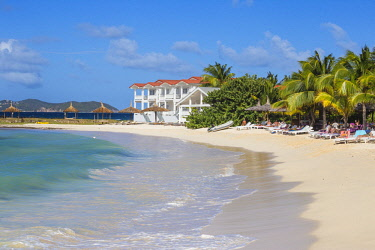 SVG01147 St Vincent and The Grenadines, Union Island, David's Beach Hotel, Big Sands beach at Belmont Bay