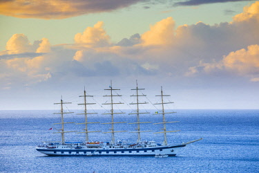 SVG01254 St Vincent and The Grenadines, Bequia, Star Clippers Tall ship in Admiralty Bay