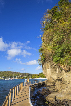 SVG01285 St Vincent and The Grenadines, Bequia, Belmont Walkway