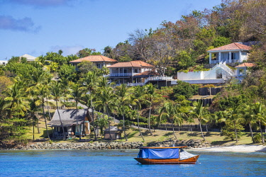 SVG01287 St Vincent and The Grenadines, Mustique, View of Lovell village