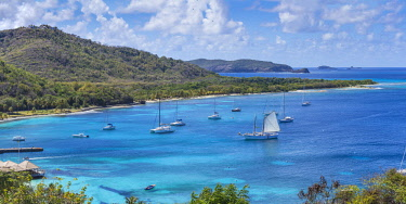 SVG01288 St Vincent and The Grenadines, Mustique, View of Brittania Bay