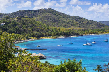 SVG01289 St Vincent and The Grenadines, Mustique, View of Brittania Bay