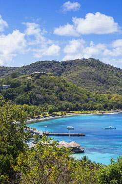 SVG01290 St Vincent and The Grenadines, Mustique, View of Brittania Bay