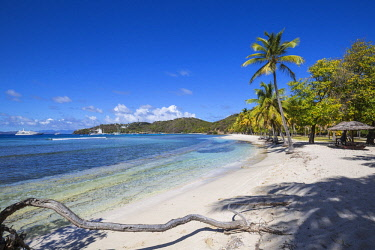 SVG01303 St Vincent and The Grenadines, Mustique, Brittania Bay beach