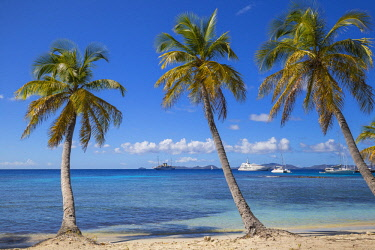 SVG01306 St Vincent and The Grenadines, Mustique, Brittania Bay beach