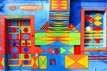 "ITA12680AW Colored House ""Casa Deo Bepi Sua"" on the Island of Burano, Venice, Italy"