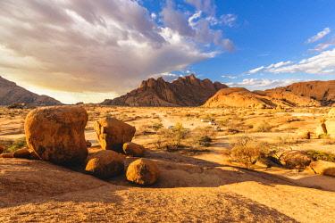 NAM6480AW Spitzkoppe, Damaraland, Namibia, Africa. Group of bald rocks and granite peaks.