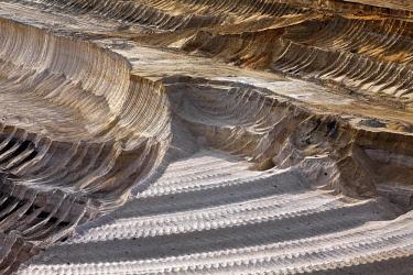 IBLSZI04626457 Open-cast lignite mine, detail, Garzweiler, Juchen, Rheinisches Braunkohlerevier, North Rhine-Westphalia, Germany, Europe
