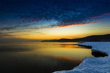 IBXKKL04633962 Coast near Binz in winter, Rugen, Mecklenburg-Western Pomerania, Germany, Europe