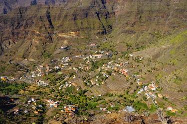 IBXMAN04649202 Mountain villages of Vizcaina, Retamal and Lomo del Balo, Valle Gran Rey, La Gomera, Canary Islands, Spain, Europe