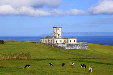 IBXFSC04087687 Ruins of the Farol da Ribeirinha or Ribeirinha Lighthouse, Ribeirinha, Faial, Azores, Portugal, Europe