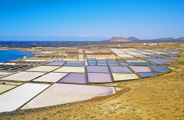 IBXSIM04402663 Salt lakes, Lanzarote, Canary Islands, Spain, Europe