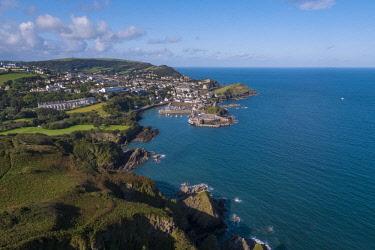 UK08273 United Kingdom, Devon, North Devon coast, Ilfracombe, aerial view over the town