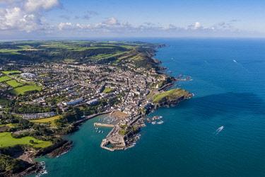 UK08274 United Kingdom, Devon, North Devon coast, Ilfracombe, aerial view over the town