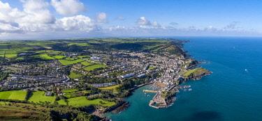 UK08275 United Kingdom, Devon, North Devon coast, Ilfracombe, aerial view over the town