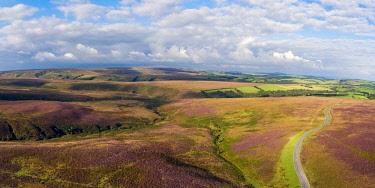 UK08280 United Kingdom, Devon, Exmoor National Park, aerial view over the moors