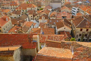IBXDIG04593506 Rooftop view across the old town, Kotor, Montenegro, Europe
