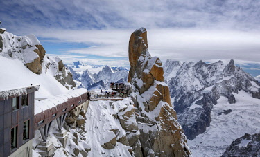 IBXKIP04570470 The Pipe, Aiguille du Midi, Mont Blanc, Chamonix, France, Europe