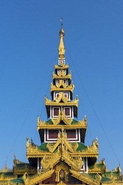 IBXPSI04625707 Ornate roof, Shwedagon Pagoda, Yangon, Myanmar, Burma, Asia