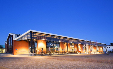IBXRBB04579120 Maritime experience world, fishing port, evening twilight, Bremerhaven, Bremen, Germany, Europe