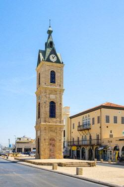ISR0542AWRF Israel, Tel Aviv District, Tel Aviv-Yafo. Jaffa Clock Tower, old town.