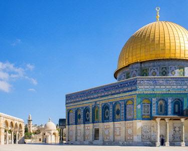 ISR0465AW Israel, Jerusalem District, Jerusalem. Dome of the Rock on Temple Mount.