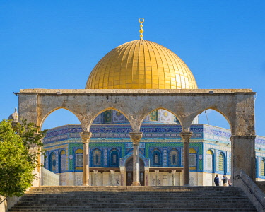 Israel, Jerusalem District, Jerusalem. Dome of the Rock on Temple Mount.