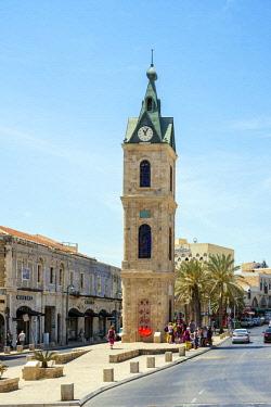 ISR0430AW Israel, Tel Aviv District, Tel Aviv-Yafo. Jaffa Clock Tower, old town.