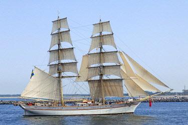 IBLSHG04216644 Sailing boat, brig, Hanse Sail, Rostock, Mecklenburg-Western Pomerania, Germany, Europe