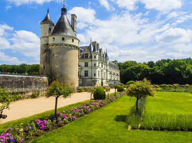 IBLMOX04511940 Castle Chenonceau on the Cher, the Chateau de Chenonceau, Department Chenonceaux, Indre-et-Loire, Center Region, France, Europe
