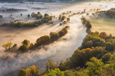 CLKFV88273 The mists of Adda river, Airuno, Adda Nord park, Lecco province, Brianza, Lombardy, Italy