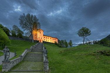 CLKMK88675 Anzvp, Feltre, province of Belluno, Veneto, Italy. Sanctuary of the Saints Vittore and Corona