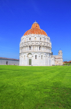 ITA12898AWRF Baptistery, Cathedral and Leaning Tower, Campo dei Miracoli, Pisa, Tuscany, Italy, Europe