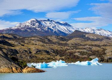ARG2740AW Icebergs on Lake Argentino, Los Glaciares National Park, Santa Cruz Province, Patagonia, Argentina