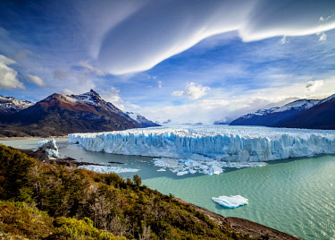 ARG2779AW Perito Moreno Glacier, elevated view, Los Glaciares National Park, Santa Cruz Province, Patagonia, Argentina