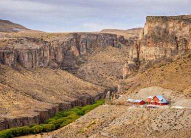 ARG2819AW Cueva de las Manos Visitor Centre, Rio Pinturas Canyon, Santa Cruz Province, Patagonia, Argentina