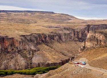 ARG2822AW Cueva de las Manos Visitor Centre, Rio Pinturas Canyon, Santa Cruz Province, Patagonia, Argentina