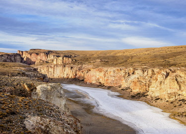 ARG2824AW Caracoles Canyon near Perito Moreno Town, elevated view, Santa Cruz Province, Patagonia, Argentina
